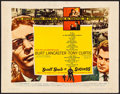 "Movie Posters:Drama, Sweet Smell of Success (United Artists, 1957). Half Sheet (22"" X28"") Style B. Drama.. ..."
