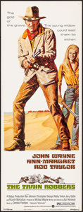"Movie Posters:Western, The Train Robbers (Warner Brothers, 1973). Insert (14"" X 36"")Robert Tanenbaum Artwork. Western.. ..."