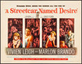 "Movie Posters:Drama, A Streetcar Named Desire (Warner Brothers, 1951). Half Sheet (22"" X28""). Drama.. ..."