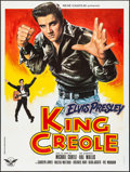 "Movie Posters:Elvis Presley, King Creole (RC Editions, R-1978). French Grande (47"" X 63"") JeanMascii Artwork. Elvis Presley.. ..."