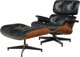 Charles Eames (American, 1907-1978) and Ray Kaiser Eames (American, 1912-1988) Eames Lounge Chair (670) and Ottoman (671...