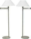 Lighting:Lamps, Walter von Nessen (American, 1899-1943). Pair of Swing Arm Floor Lamps from Craig Ellwood's Hunt House, 1958. Aluminum, ... (Total: 2 Items)