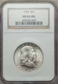 Franklin Half Dollars, 1948 50C MS65 Full Bell Lines NGC. NGC Census: (1071/135). PCGS Population: (2942/516). CDN: $85 Whsle. Bid for problem-fre...