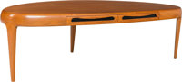 Johannes Andersen (Danish, 1903-1995) Capri Coffee Table, circa 1965, Trensum Teak 19-3/4 x 66 x