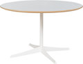 Furniture , Richard Schultz (American, born 1930). Round Dining Table, Knoll Associates. Enameled steel, laminate, birch. 27 x 43 in...
