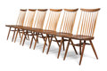 Furniture , George Nakashima (American, 1905-1990). Six New Chairs, 1958/1968. Walnut, hickory. 35-3/4 x 18-3/4 x 19 inches (90.8 x ... (Total: 6 Items)