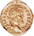 Ancients:Roman Imperial, Ancients: Septimius Severus (AD 193-211). AV aureus (21mm, 7.31 gm, 6h). Choice MS ★ 5/5 - 5/5....