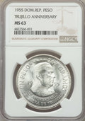 Dominican Republic, Dominican Republic: Republic Peso 1955-(p) MS63 NGC,...
