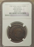 1787 WM NJERSY New Jersey Copper, WM Above Plow -- Damaged -- NGC Details. Fine. NGC Census: (0/0). PCGS Population: (0/...