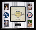 Baseball Collectibles:Others, 2008 Last Game at Yankee Stadium Game Used Base from Final Home Run at the Stadium Signed by Jeter, Rivera, Pettitte & Posada....