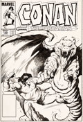 Original Comic Art:Covers, John Buscema Conan the Barbarian #166 Cover Original Art(Marvel, 1985)....