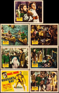 "Movie Posters:Adventure, Hudson's Bay (20th Century Fox, 1941). Title Lobby Card & LobbyCards (6) (11"" X 14""). Adventure.. ... (Total: 7 Items)"