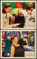 """Movie Posters:Hitchcock, Spellbound (United Artists, 1945). Lobby Cards (2) (11"""" X 14"""").Hitchcock.. ... (Total: 2 Items)"""