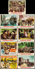 "Movie Posters:Action, Northwest Passage (MGM, 1940/R-1950/R-1956). Title Lobby Cards (2)& Lobby Cards (7) (11"" X 14""). Action.. ... (Total: 9 Items)"