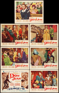 """The Adventures of Don Juan (Warner Brothers, 1949). Title Lobby Card & Lobby Cards (6) (11"""" X 14""""). Swashb..."""