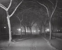 Alfred Stieglitz (American, 1864-1946) An Icy Night, 1898 Photogravure, printed later 5 x 6-1/4 i