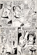 Original Comic Art:Panel Pages, John Buscema and Johnny Craig Sub-Mariner #20 Story Page 11Triton Original Art (Marvel, 1969)....