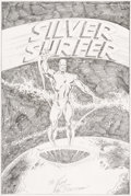 Original Comic Art:Covers, John Buscema Silver Surfer #1 Cover Recreation Original Art(c. 1990s-2000s)....