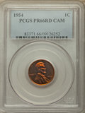 Proof Lincoln Cents, 1954 1C PR66 Red Cameo PCGS. PCGS Population: (123/86). NGC Census: (74/133)....