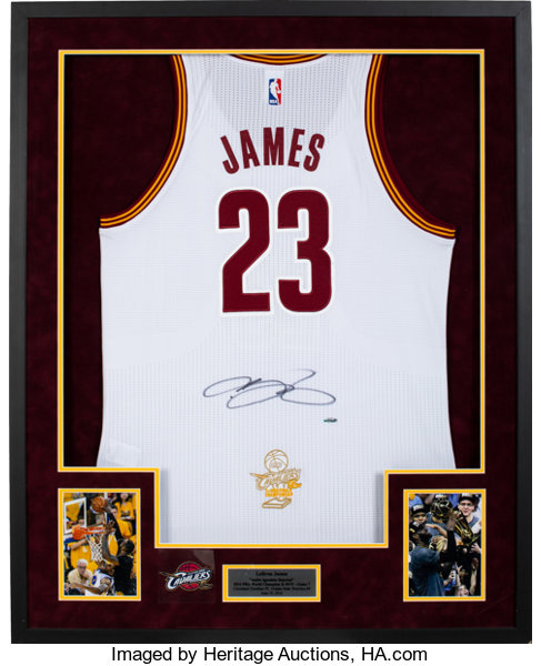 7a8c2a561c3a4 2016 LeBron James Signed Cleveland Cavaliers NBA Finals Upper
