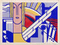 Prints & Multiples, Roy Lichtenstein (1923-1997). Modern Art Poster, 1967. Screenprint in colors on smooth wove paper. 8 x 11 inches (20.3 x...