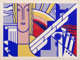 Roy Lichtenstein (1923-1997) Modern Art Poster, 1967 Screenprint in colors on smooth wove paper 8 x 11 inches (20.3 x...