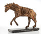 Salvador Dalí (1904-1989) Horse Saddled with Time, 1980 Bronze with gold patina 17-1/2 x 22-1/2 x 4-1/2 inches (4...
