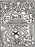 Fine Art - Work on Paper:Print, Keith Haring (1958-1990). Poster for Nuclear Disarmament,1982. Offset lithograph on smooth wove paper. 24 x 18 inches (...