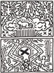 Keith Haring (1958-1990) Poster for Nuclear Disarmament, 1982 Offset lithograph on smooth wove paper 24 x 18 inches (...