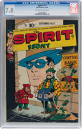 Golden Age (1938-1955):Crime, The Spirit #17 Canadian Edition (Bell Features, 1949) CGC FN/VF 7.0 Off-white to white pages....