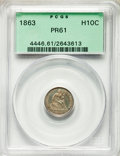 Proof Seated Half Dimes: , 1863 H10C PR61 PCGS. PCGS Population: (6/209). NGC Census: (5/143). Mintage 460. ...