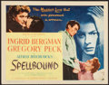 "Movie Posters:Hitchcock, Spellbound (United Artists, 1945). Title Lobby Card (11"" X 14"").Hitchcock.. ..."