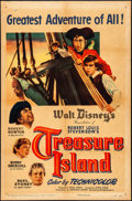 "Movie Posters:Adventure, Treasure Island (RKO, 1950). Folded, Very Good/Fine. One Sheet (27""X 41""). Adventure.. ..."