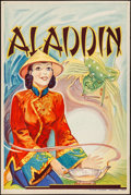 "Movie Posters:Miscellaneous, Pantomime Theatre--Aladdin (Taylors Printers, c. 1930). TheatrePoster (20"" X 30""). Miscellaneous.. ..."
