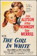 "Movie Posters:Drama, The Girl in White (MGM, 1952). One Sheet (27"" X 41""). Drama.. ..."