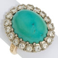 Estate Jewelry:Rings, Turquoise, Diamond, Gold Ring . ...