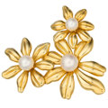 Estate Jewelry:Brooches - Pins, Cultured Pearl, Gold Brooch, Tiffany & Co.. ...