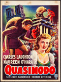 "Movie Posters:Horror, The Hunchback of Notre Dame (RKO, R-1952). Trimmed Belgian (14.25""X 19.5"") Flemish Title: Quasimodo. Horror.. ..."