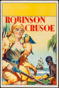 "Movie Posters:Miscellaneous, Pantomime Theatre-Robinson Crusoe (Taylors Printers, 1930s).British Theatre Double Crown (20"" X 30""). Miscellaneous.. ..."