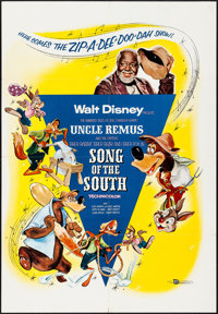 "Song of the South (Buena Vista, R-1956). Folded, Very Fine-. One Sheet (27"" X 39.5""). Animation"