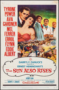 "Movie Posters:Drama, The Sun Also Rises (20th Century Fox, 1957). One Sheet (27"" X 41"").Drama.. ..."