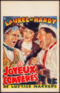 "Movie Posters:Comedy, Them Thar Hills and Other Lot (Les Exploitants Reunis, R-1950s).Belgians (2) (14"" X 22""). Comedy.. ... (Total: 2 Items)"
