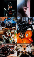 """Movie Posters:Action, Batman Returns (Zanart Publishing, 1992). Lobby Card Set of 8 (11"""" X 14"""") Special Collector's Edition. Action.. ... (Total: 8 Items)"""