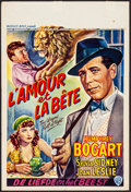 """Movie Posters:Drama, The Wagons Roll at Night (Warner Brothers, 1940's). Belgian (14.5""""X 21.75""""). Drama.. ..."""