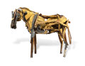 Sculpture, Deborah Butterfield (b. 1949). Palomino, 1981. Painted metal, wood, wire, and nails. 75 x 48 x 99 inches (190.5 x 121.9 ...