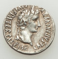 Ancients:Roman Imperial, Ancients: Augustus (27 BC-AD 14). AR denarius (20mm, 3.61 gm, 10h).VF, scratches. ...