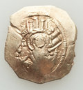 Ancients:Byzantine, Ancients: Andronicus II Palaeologus, with Michael IX (AD1282-1328). EL hyperpyron (24mm, 4.32 gm, 7h). XF, flatstrike....