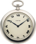 "Timepieces:Pocket (post 1900), Cartier ""Bord de Couteau"" Platinum Watch, European Watch & Clock Co., circa 1915. ..."