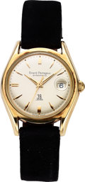 Timepieces:Wristwatch, Girard-Perregaux Gyromatic Date, Gold Shell Over Stainless Steel,Box, Circa 1960s. ...