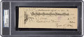 Autographs:Checks, 1932 Ty Cobb Signed Check, PSA/DNA Gem Mint 10. ...
